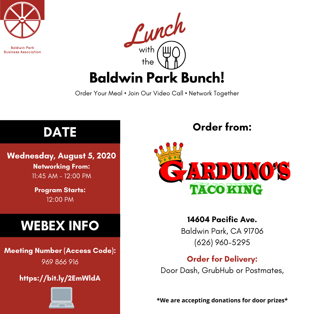 Lunch With the Baldwin Park Bunch
