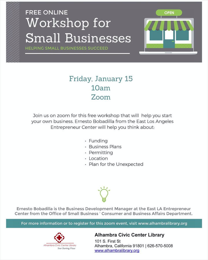 Free Online Workshop for Small Businesses